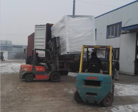 CNC Spraying Machine loading